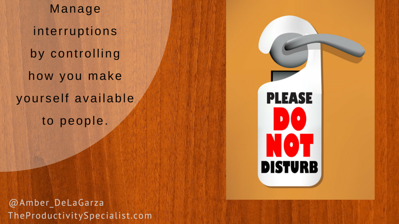 Managing Interruptions Effectively