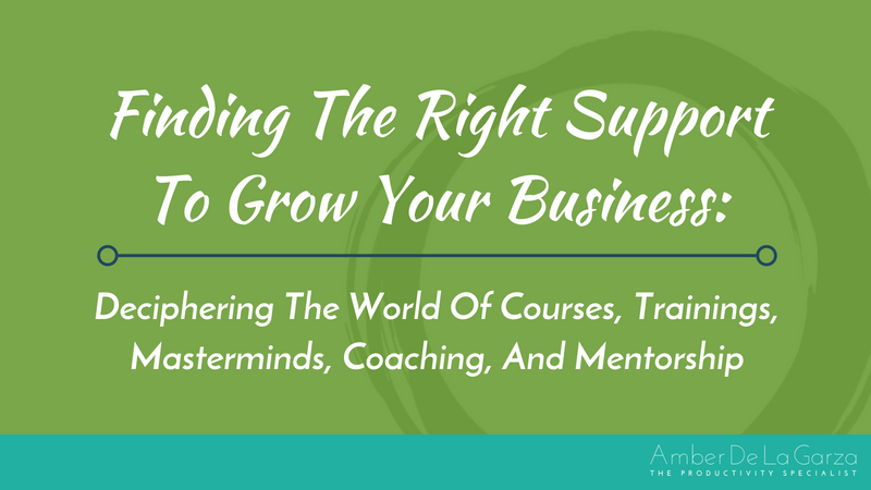 Finding The Right Support To Grow Your Business Deciphering The World Of Courses, Trainings, Masterminds, Coaching, And Mentorship