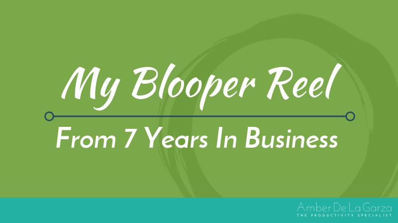 My Blooper Reel From 7 Years In Business