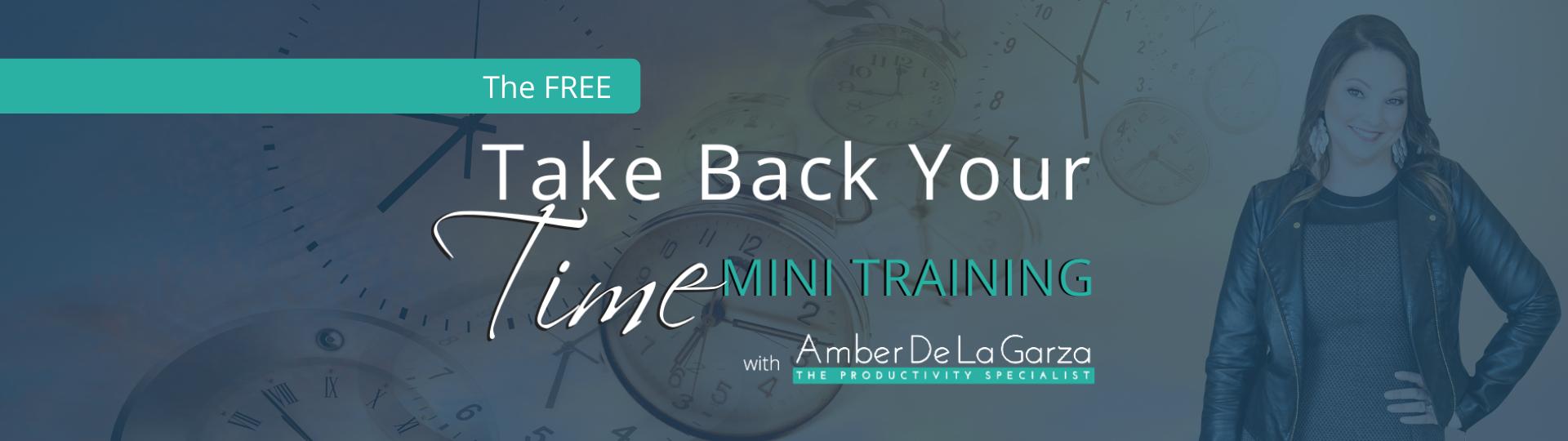 Take Back Your Time Mini Training