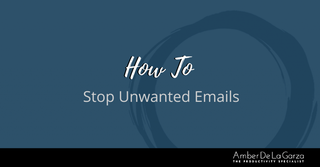 How To Stop Unwanted Emails 2