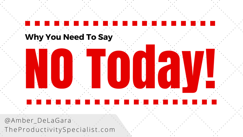 Why You Need To Say No Today!