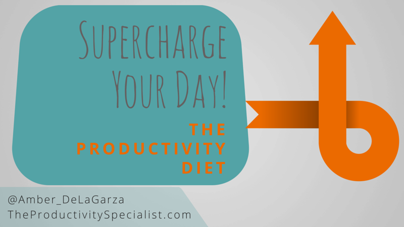 Supercharge Your Day: The Productivity Diet