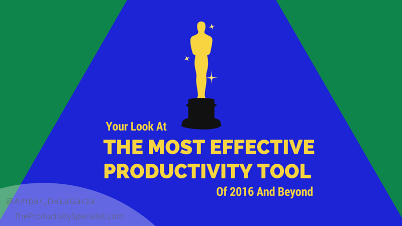 Most Effective Productivity Tool of 2016